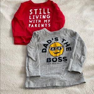 2/$10 Osh Kosh Long Sleeve T-shirts